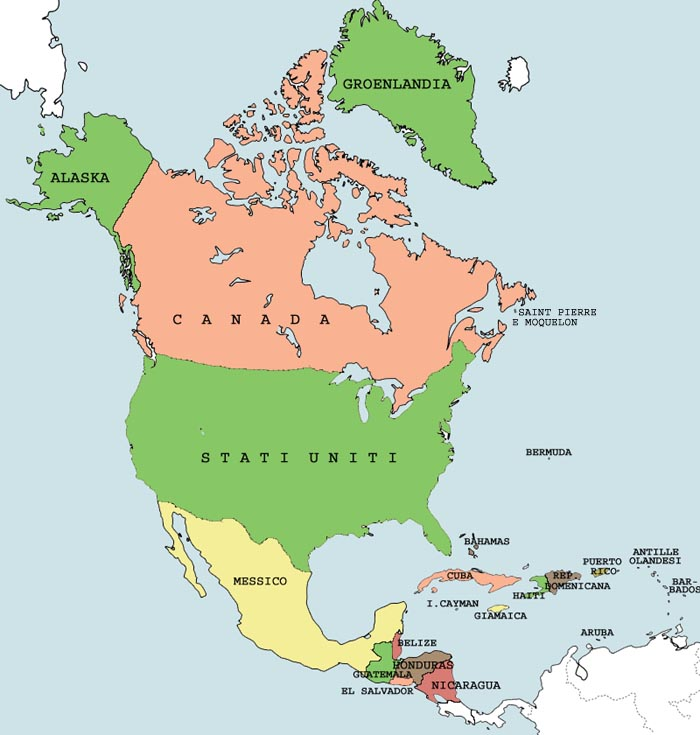 America Settentrionale Cartina.America Del Nord Lessons Tes Teach